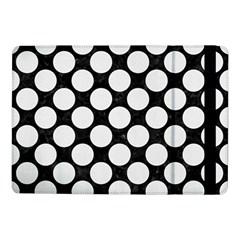 Circles2 Black Marble & White Linen (r) Samsung Galaxy Tab Pro 10 1  Flip Case by trendistuff