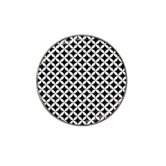 Circles3 Black Marble & White Linen (r) Hat Clip Ball Marker (10 Pack) by trendistuff