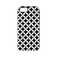 Circles3 Black Marble & White Linen (r) Apple Iphone 5 Classic Hardshell Case (pc+silicone)