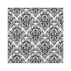 Damask1 Black Marble & White Linen Acrylic Tangram Puzzle (6  X 6 ) by trendistuff