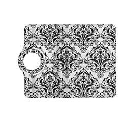 Damask1 Black Marble & White Linen Kindle Fire Hd (2013) Flip 360 Case by trendistuff