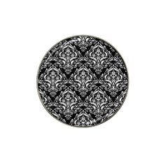 Damask1 Black Marble & White Linen (r) Hat Clip Ball Marker (10 Pack) by trendistuff