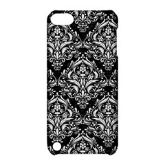 Damask1 Black Marble & White Linen (r) Apple Ipod Touch 5 Hardshell Case With Stand by trendistuff