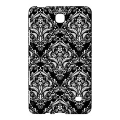 Damask1 Black Marble & White Linen (r) Samsung Galaxy Tab 4 (7 ) Hardshell Case  by trendistuff