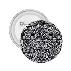 Damask2 Black Marble & White Linen 2 25  Buttons by trendistuff
