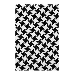 Houndstooth2 Black Marble & White Linen Shower Curtain 48  X 72  (small)  by trendistuff