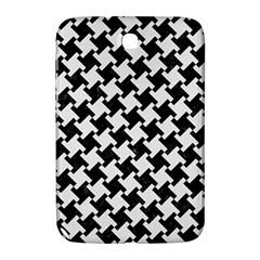 Houndstooth2 Black Marble & White Linen Samsung Galaxy Note 8 0 N5100 Hardshell Case  by trendistuff