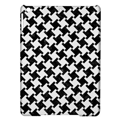 Houndstooth2 Black Marble & White Linen Ipad Air Hardshell Cases by trendistuff