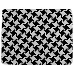 Houndstooth2 Black Marble & White Linen Jigsaw Puzzle Photo Stand (rectangular) by trendistuff
