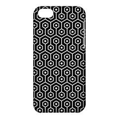 Hexagon1 Black Marble & White Linen (r) Apple Iphone 5c Hardshell Case by trendistuff