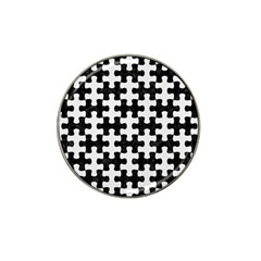 Puzzle1 Black Marble & White Linen Hat Clip Ball Marker (10 Pack) by trendistuff