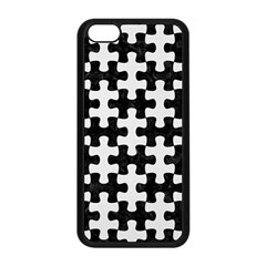 Puzzle1 Black Marble & White Linen Apple Iphone 5c Seamless Case (black) by trendistuff