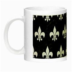 Royal1 Black Marble & White Linen Night Luminous Mugs