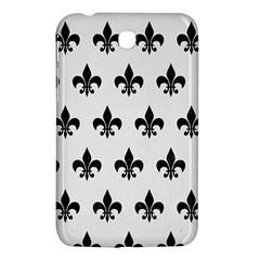 Royal1 Black Marble & White Linen (r) Samsung Galaxy Tab 3 (7 ) P3200 Hardshell Case