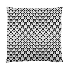 Scales2 Black Marble & White Linen Standard Cushion Case (two Sides)
