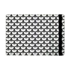 Scales3 Black Marble & White Linen Ipad Mini 2 Flip Cases by trendistuff