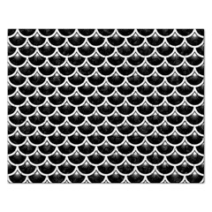Scales3 Black Marble & White Linen (r) Rectangular Jigsaw Puzzl by trendistuff