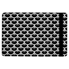 Scales3 Black Marble & White Linen (r) Ipad Air Flip by trendistuff