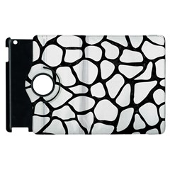 Skin1 Black Marble & White Linen (r) Apple Ipad 3/4 Flip 360 Case by trendistuff