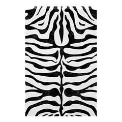 Skin2 Black Marble & White Linen Shower Curtain 48  X 72  (small)  by trendistuff