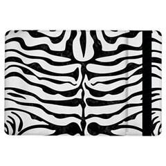 Skin2 Black Marble & White Linen Ipad Air Flip by trendistuff
