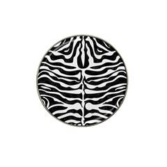 Skin2 Black Marble & White Linen (r) Hat Clip Ball Marker (10 Pack) by trendistuff