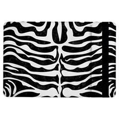 Skin2 Black Marble & White Linen (r) Ipad Air Flip by trendistuff