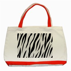Skin3 Black Marble & White Linen Classic Tote Bag (red) by trendistuff