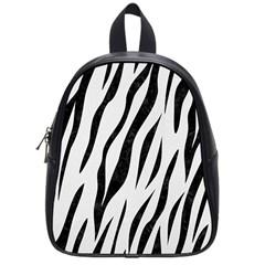 Skin3 Black Marble & White Linen School Bag (small) by trendistuff