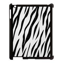 Skin3 Black Marble & White Linen Apple Ipad 3/4 Case (black) by trendistuff