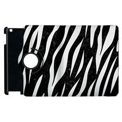 Skin3 Black Marble & White Linen (r) Apple Ipad 2 Flip 360 Case by trendistuff
