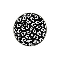 Skin5 Black Marble & White Linen Hat Clip Ball Marker (10 Pack) by trendistuff
