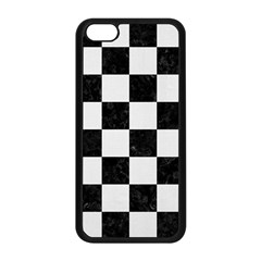 Square1 Black Marble & White Linen Apple Iphone 5c Seamless Case (black) by trendistuff