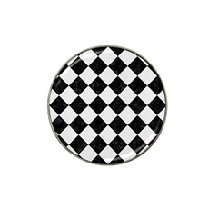 Square2 Black Marble & White Linen Hat Clip Ball Marker (10 Pack) by trendistuff