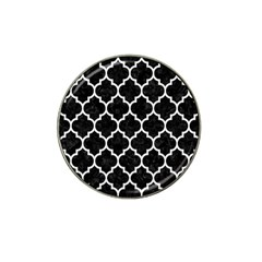 Tile1 Black Marble & White Linen (r) Hat Clip Ball Marker (10 Pack) by trendistuff