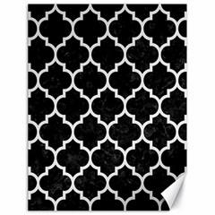Tile1 Black Marble & White Linen (r) Canvas 18  X 24   by trendistuff