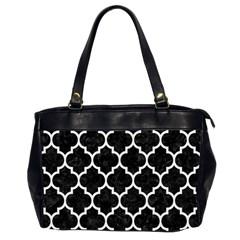 Tile1 Black Marble & White Linen (r) Office Handbags (2 Sides)  by trendistuff