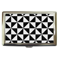 Triangle1 Black Marble & White Linen Cigarette Money Cases by trendistuff