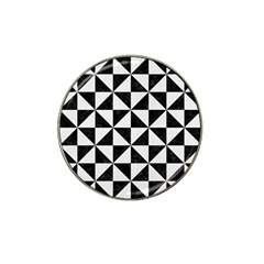 Triangle1 Black Marble & White Linen Hat Clip Ball Marker (10 Pack) by trendistuff