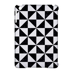 Triangle1 Black Marble & White Linen Apple Ipad Mini Hardshell Case (compatible With Smart Cover) by trendistuff
