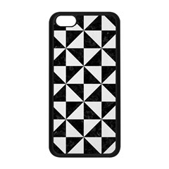Triangle1 Black Marble & White Linen Apple Iphone 5c Seamless Case (black) by trendistuff