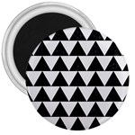 TRIANGLE2 BLACK MARBLE & WHITE LINEN 3  Magnets