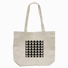 Triangle2 Black Marble & White Linen Tote Bag (cream) by trendistuff