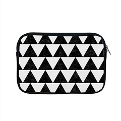 Triangle2 Black Marble & White Linen Apple Macbook Pro 15  Zipper Case by trendistuff