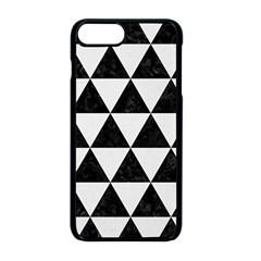 Triangle3 Black Marble & White Linen Apple Iphone 8 Plus Seamless Case (black)