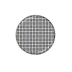 Woven1 Black Marble & White Linen Hat Clip Ball Marker (10 Pack) by trendistuff