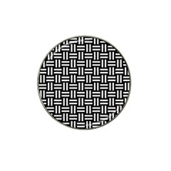 Woven1 Black Marble & White Linen (r) Hat Clip Ball Marker (10 Pack) by trendistuff