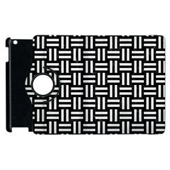 Woven1 Black Marble & White Linen (r) Apple Ipad 3/4 Flip 360 Case by trendistuff