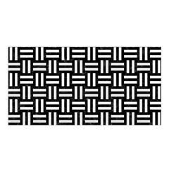 Woven1 Black Marble & White Linen (r) Satin Shawl by trendistuff
