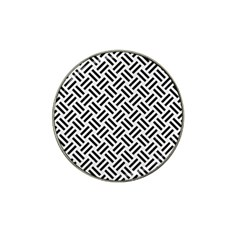Woven2 Black Marble & White Linen Hat Clip Ball Marker (10 Pack) by trendistuff